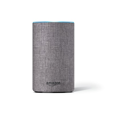 Amazon Echo (2nd generation), Heather Gray Fabric