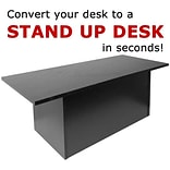 Symple Stuff 12 H x 36 W Standing Desk Conversion Unit; Black