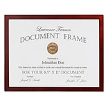 8.5x11 Walnut Wood Certificate Picture Frame - Gallery Collection