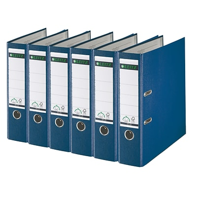 Leitz 2-Ring 3-Inch Premium A4 Sized European Binders 6-Pack, Blue (1010PACK-BL)