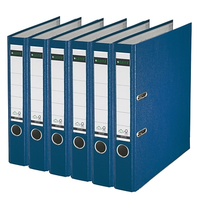 Leitz 2-Ring 2-Inch Premium A4 Sized European Binders 6-Pack, Blue (1015PACK-BL)
