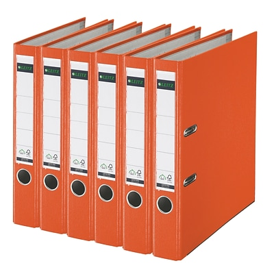 Leitz 2-Ring 2-Inch Premium A4 Sized European Binders 6-Pack, Orange (1015PACK-OR)