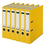 Leitz 2-Ring 2-Inch Premium A4 Sized European Binders 6-Pack, Yellow (1015PACK-YE)