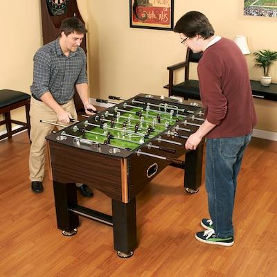 "Hathaway(tm) 56"" Primo Foosball Table, Brown/Green"