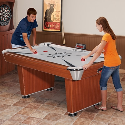 Hathaway™ Midtown 6 Air Hockey Table, Cherry/Silver
