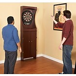 Hathaway™ 81 x 9 1/4 x 54 Outlaw Free Standing Dartboard and Cabinet Set, Cherry