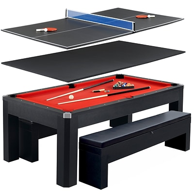 Hathaway BG2530PR Park Avenue 7 Pool Table Combo Set