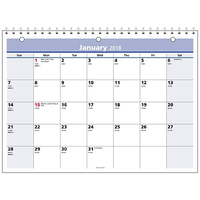 2018 AT-A-GLANCE® QuickNotes Monthly Wall Calendar, 11 x 8 (PM50-28-18)