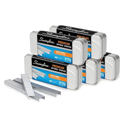 Swingline Optima™ Premium Staples, 3,750 Staples per Box, 5 Pack (SWI35565)