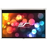 Elite Screens 150 Manual Projection Screen; 16:9; White Metallic Casing