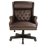 Alcott Hill Benningfield Wingback Traditional Ergonomic Executive Chair; Brown