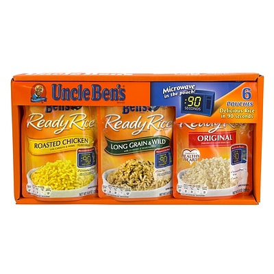 Uncle Bens Ready Rice Variety Pack, 8.8 oz., 6 Count (04254)