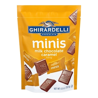 Ghirardelli Milk Chocolate Caramel Mini Pouch, 4.6 oz., 3 Pack (61910)