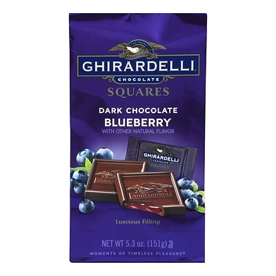Ghirardelli Dark Chocolate Blueberry Squares, 5.3 oz., 3 Pack (62431)