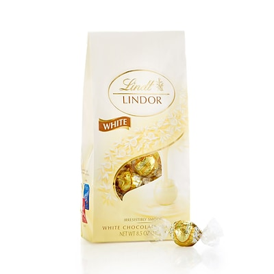 Lindt Lindor White Chocolate Truffles, 8.5 oz., 2 Pack (L00563)