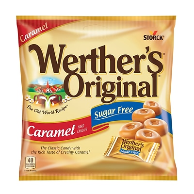 Werthers Original Sugar Free Caramel Hard Candy, 1.46 oz. , 12/Bag, 12/Pk (035513)