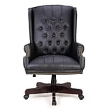 Astoria Grand Ghonge Traditional Executive Wingback Office Desk Chair; Black