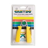 Cando Fixed Ergogrip Exerciser Yellow, X-Easy (3 Lbs), Pair in Retail Packaging