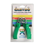 Cando Fixed Ergogrip Exerciser Green, Medium (12 Lbs), Pair in Retail Packaging