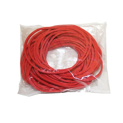 Red Rubber Bands, Latex-Free, 25 Each