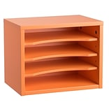 Adiroffice Orange Wood Desk Organizer Workspace Organizers Removable Shelves 11 X 14 X 9.8 (502-0