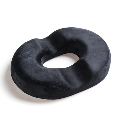 Black Mountain Products Therapeutic Donut Seat Cushion Comfort Pillow, Black