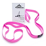 Black Mountain Products Stretch Strap with Instruction Guide, Pink