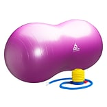 Black Mountain Products Peanut Stability Ball with Pump 1000lb Static Weight Capacity, Purple