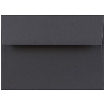 JAM Paper® A7 Invitation Envelopes, 5.25 x 7.25, Dark Grey, 250/box (36396434H)