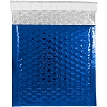 JAM Paper® CD Size Bubble Mailers with Peel and Seal Closure, 6 x 6.5, Blue Metallic, 12/pack (27452
