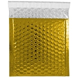 JAM Paper® CD Size Bubble Mailers with Peel and Seal Closure, 6 x 6.5, Gold Metallic, 12/pack (27452