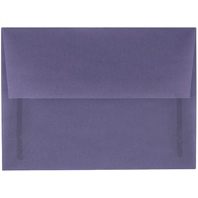 JAM Paper® A6 Invitation Envelopes, 4.75 x 6.5, Wisteria Purple Translucent Vellum, 25/pack (PACV654)