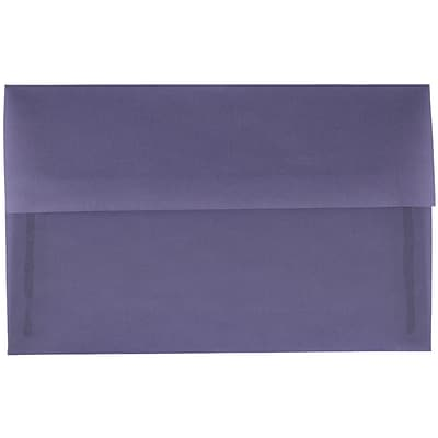 JAM Paper® A10 Invitation Envelopes, 6 x 9.5, Translucent Vellum Wisteria Purple, 250/box (PACV854H)