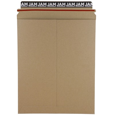 JAM Paper® Photo Mailer Stiff Envelopes with Self Adhesive Closure, 9.75 x 12.25, Brown Kraft Recycled, 6/Pack (8866642B)