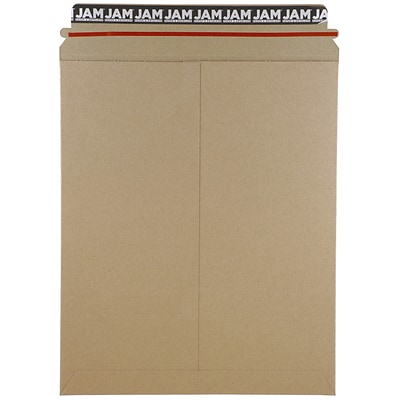 JAM Paper® Photo Mailer Stiff Envelopes with Self Adhesive Closure, 11 x 13.5, Brown Kraft Recycled, 6/Pack (8866644B)