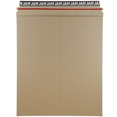 JAM Paper® Photo Mailer Stiff Envelopes with Self Adhesive Closure, 12.75 x 15, Brown Kraft Recycled, 6/Pack (8866645B)