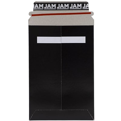 JAM Paper® Photo Mailer Stiff Envelopes with Self Adhesive Closure, 6 x 9, Black, 6/Pack (514412114B)