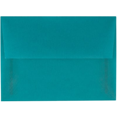 JAM Paper® A6 Invitation Envelopes, 4.75 x 6.5, Aqua Blue Translucent Vellum, 250/box (PACV664H)