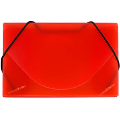 JAM Paper® Plastic Business Card Case, Red Frosted, Sold Individually (2500 010)