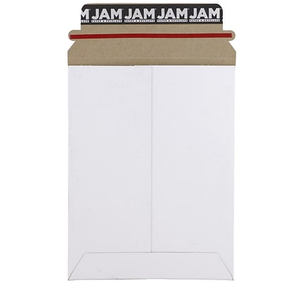 JAM Paper® Photo Mailer Stiff Envelopes with Self Adhesive Closure, 6 x 8, White, Sold Individually (1PSW)