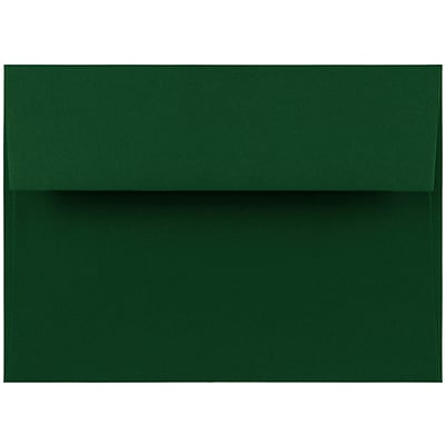 JAM Paper® A7 Invitation Envelopes, 5.25 x 7.25, Dark Green, 50/pack (263917095C)