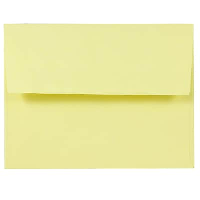 JAM Paper® A2 (4 3/8 x 5 3/4) Envelopes, Light Yellow, 25/Pack (23513013)