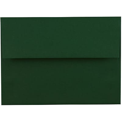 JAM Paper® A6 Invitation Envelopes, 4 3/4 x 6 1/2, Dark Green, 50/pack