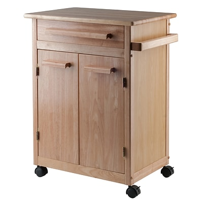 Winsome Wood Kitchen Cart, Natural, Single Drawer
