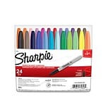 Sharpie® Permanent Markers; Fine Point, Assorted, 24/Set