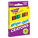 Trend® Wipe-Off® Regular Colors Crayons; 8/Box