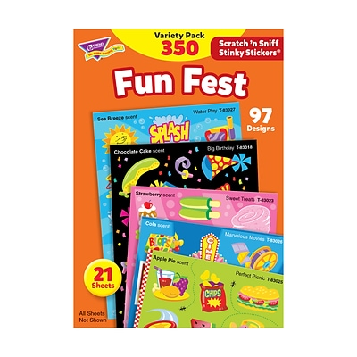 Trend® Stinky Stickers® Variety Packs, Fun Fest Scented