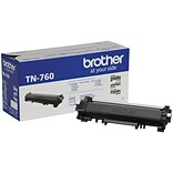 Brother Genuine High Yield Black Toner Cartridge (TN-760)