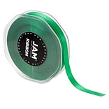 JAM Paper® Double Faced Satin Ribbon, 3/8 Inch Wide x 25 Yards, Emerald Green, Sold Individually (80