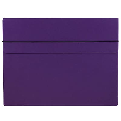 JAM Paper® Thick Portfolio Carrying Case with Elastic Band Closure, 10 x 13.25, Purple, Sold Individually (154528514)